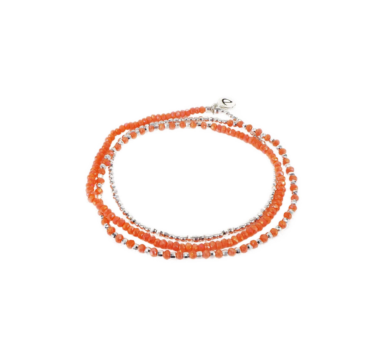 Bracelet triple élastiques heaven corail - Doriane bijoux