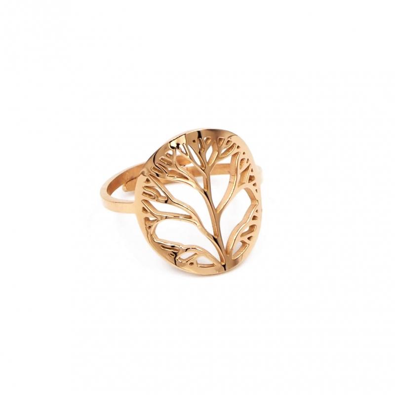 Tree of life rose gold ring...