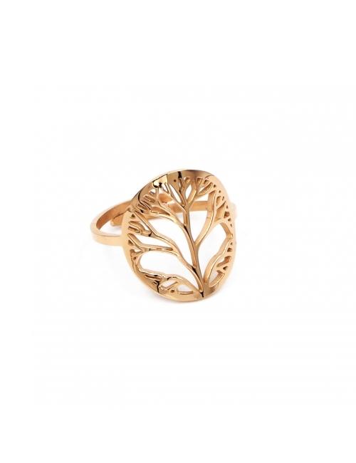 Tree of life rose gold ring - Zag Bijoux