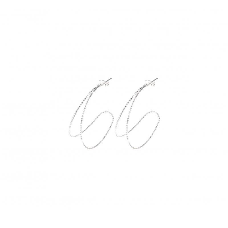 Double row hoop earrings -...