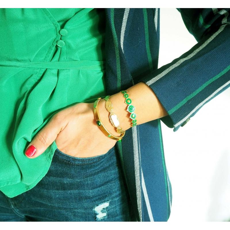Green Laguna gold bangle...
