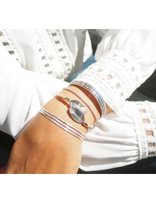 Golden steel twist bracelet - Zag Bijoux