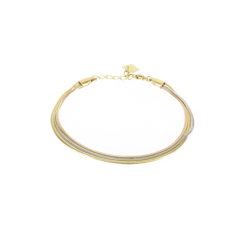 Bracelet trio 3 ors en acier - Zag Bijoux