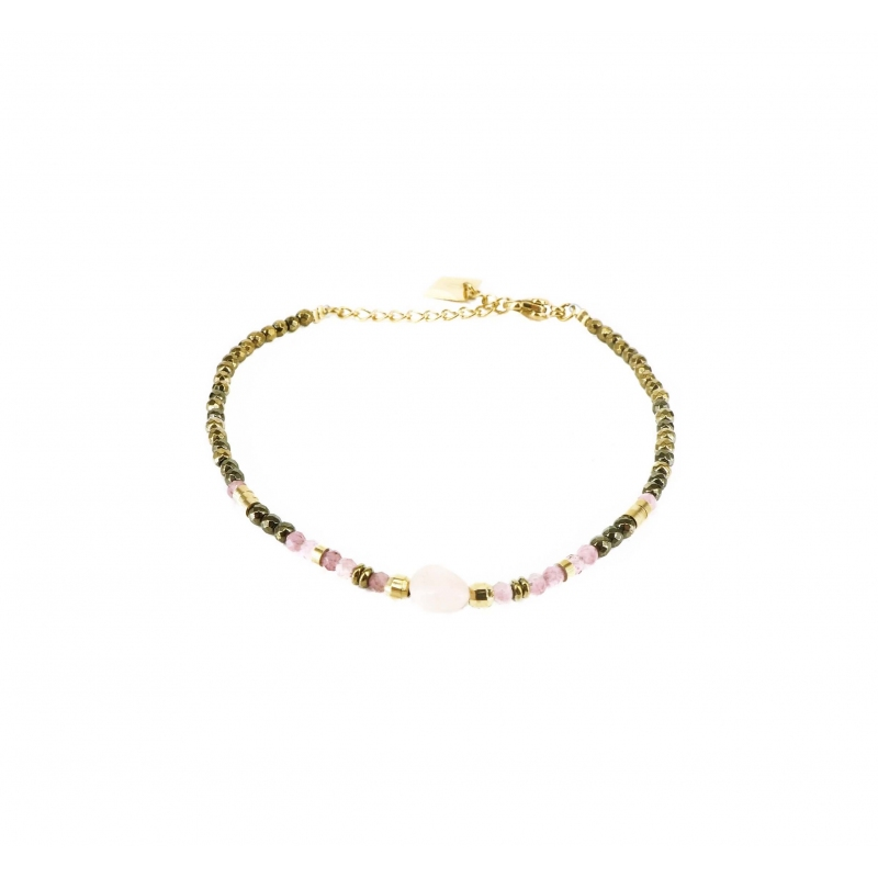 Stone oval rose quartz...