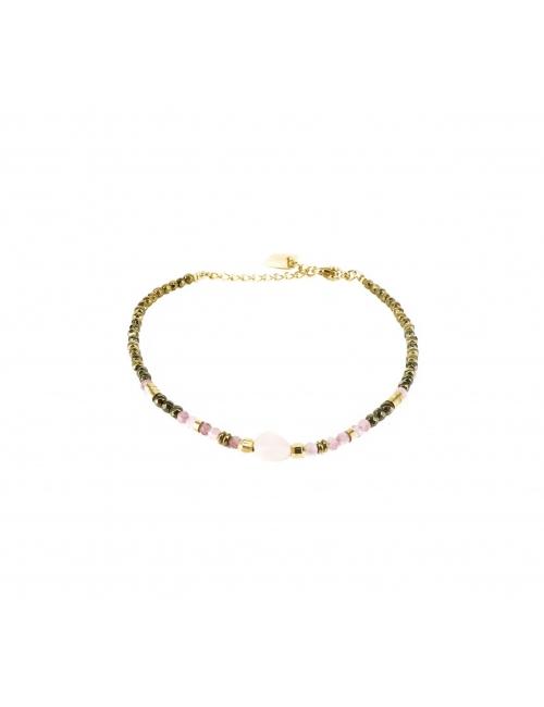 Bracelet stone ovale quartz...