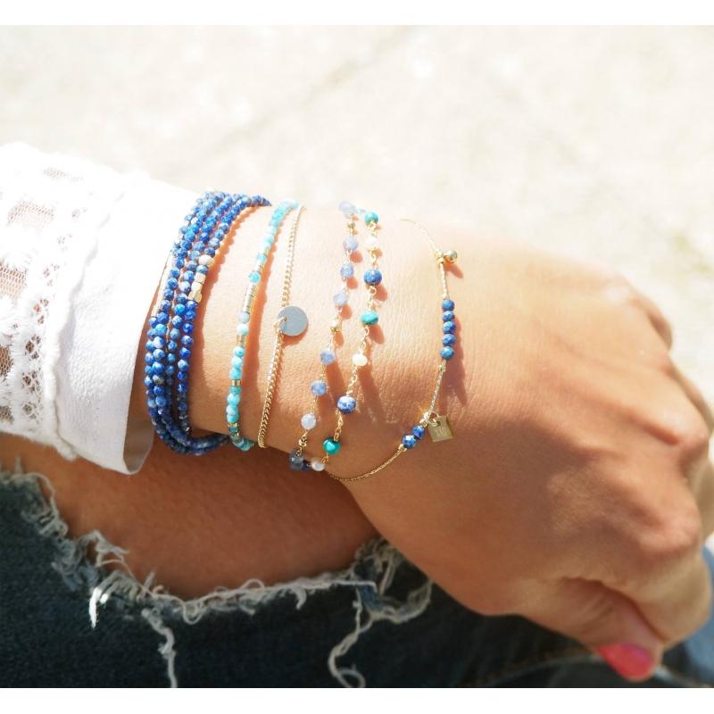 Bracelet stone lapis lazuli...