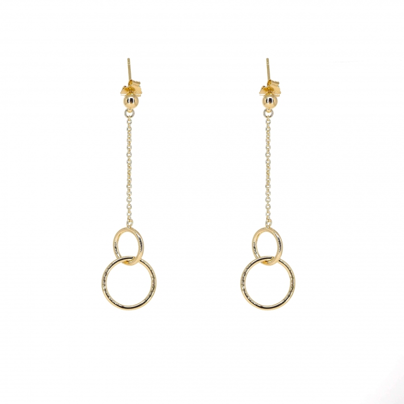 Double circle gold earrings...