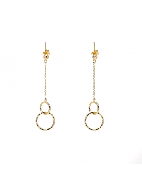 Double circle gold earrings - Pomme Cannelle