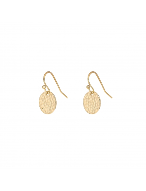 Hammered gold earrings - Pomme Cannelle