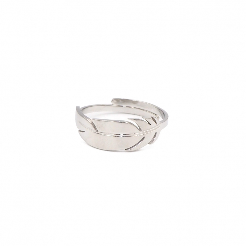 Feather silver ring - Zag...