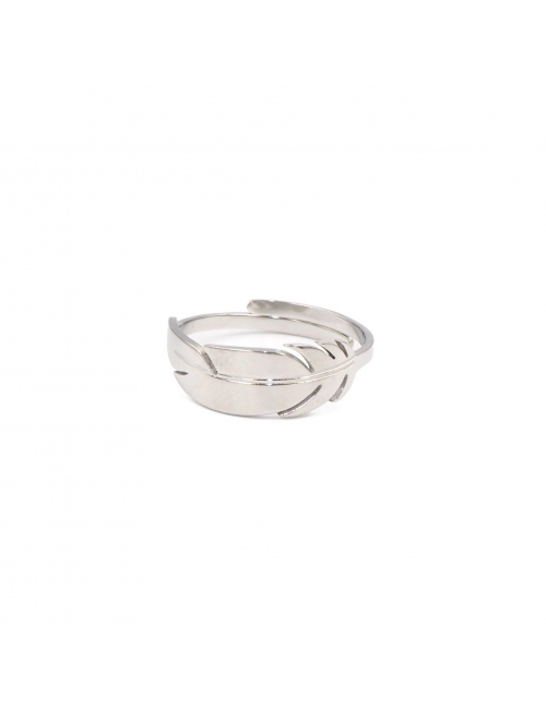 Feather silver ring - Zag Bijoux