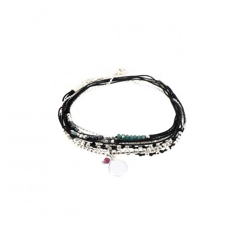 Bracelet noir pastille...