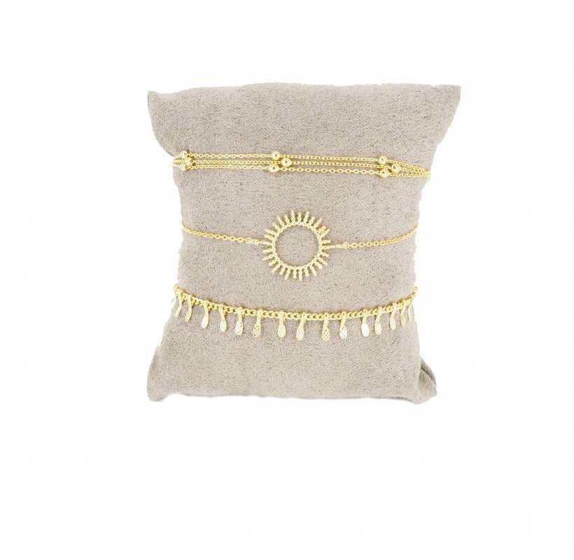Compo de 3 bracelets Cabana dorée - By Pomme Cannelle