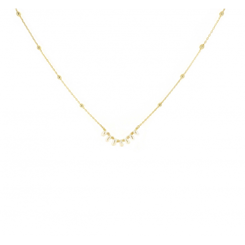 Riviera pearl necklace gold...