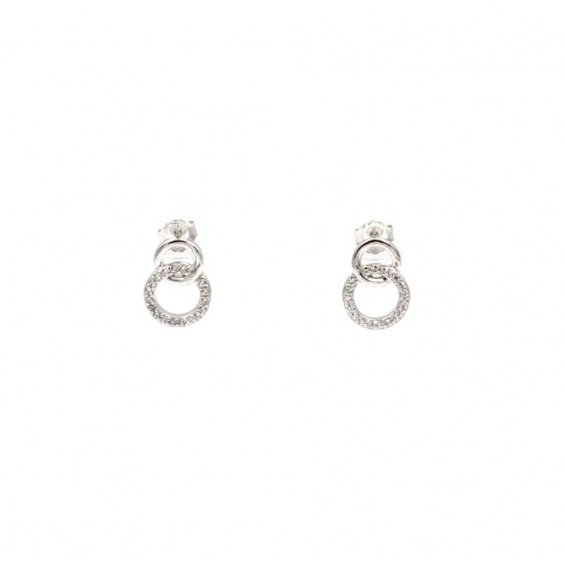 Boucles d'oreilles clou anneaux entrelacés - Les créations de Lili