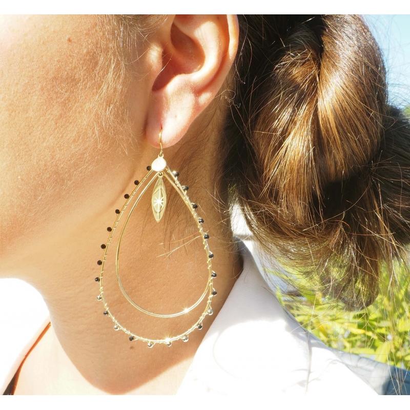 Aurelia black gold earrings...
