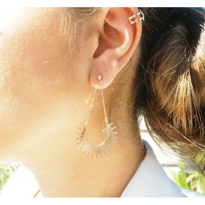 Soleil silver earrings - Zag Bijoux