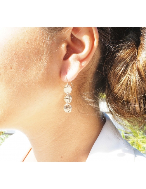 Pastilles gold earrings - Zag Bijoux