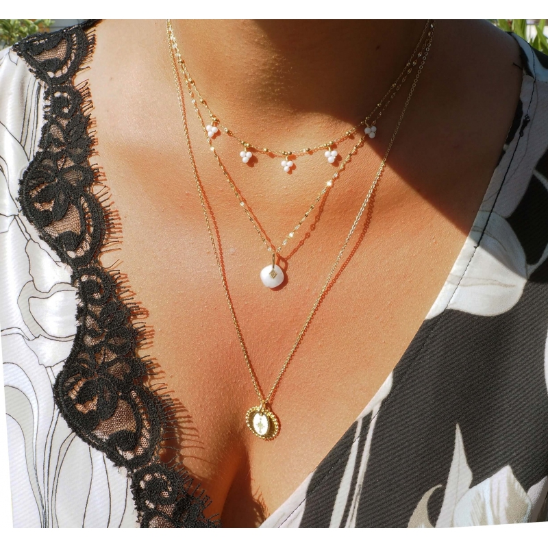 Collier grappes turquoise...
