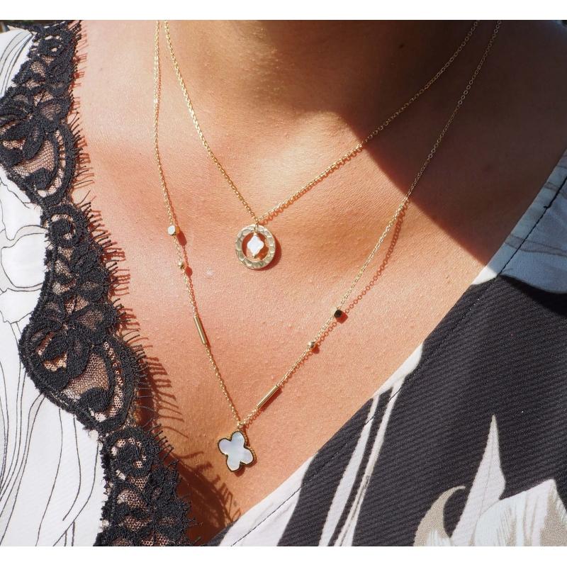 Bonnie XL gold long necklace - Zag Bijoux