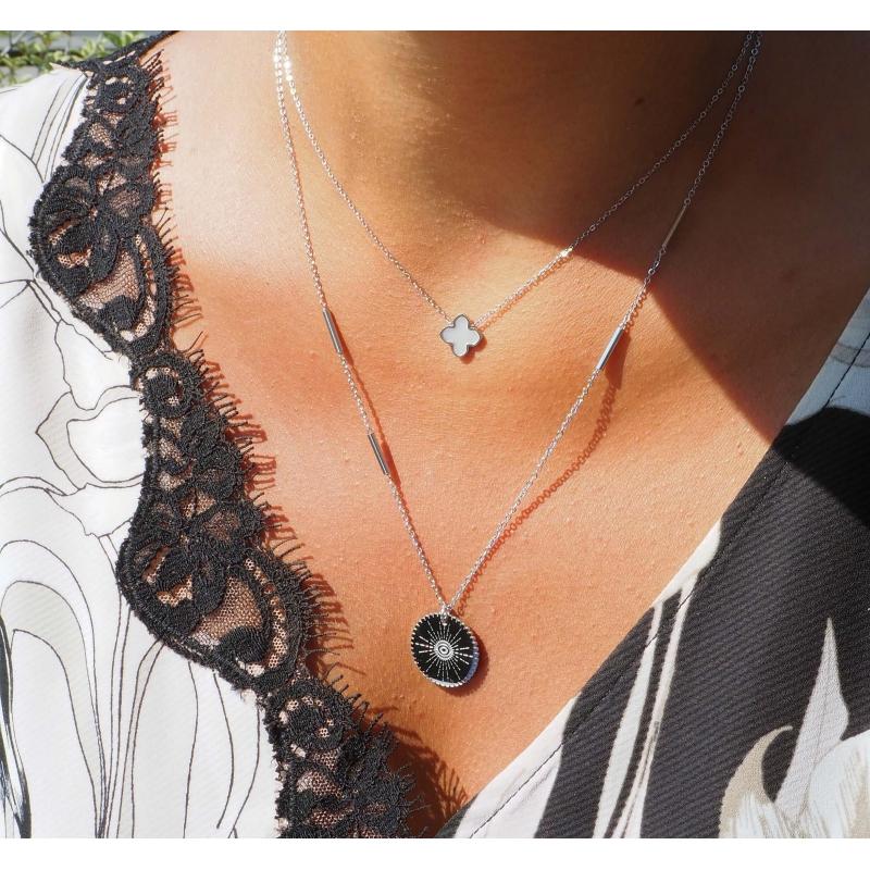 Eye silver necklace - Zag Bijoux