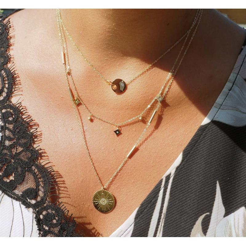Union gold necklace - Zag...