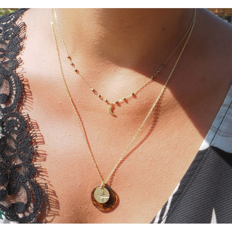 Lune gold necklace - Zag...