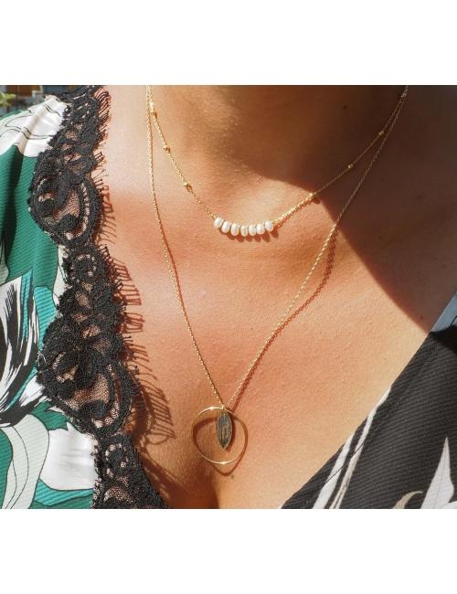 Collier riviera perles en...
