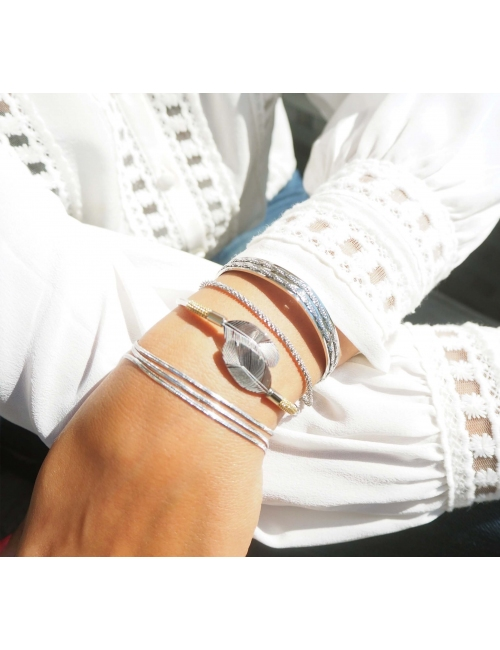 Trio gold bracelet - Zag Bijoux