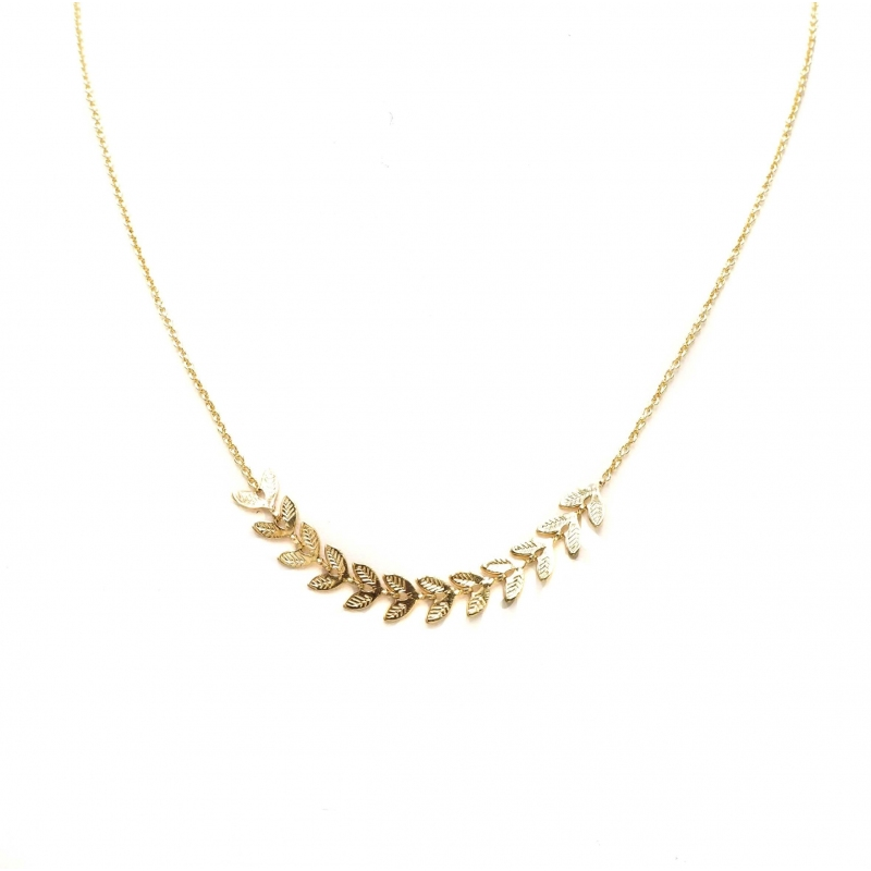 Ears of wheat gold necklace...