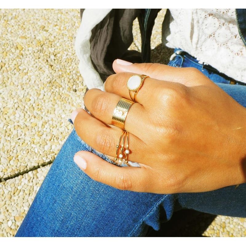 Strie gold ring - Zag Bijoux