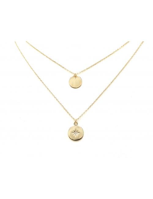 Celestial double gold necklace - Pomme Cannelle