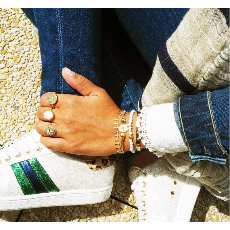 Ears mini gold bracelet -...