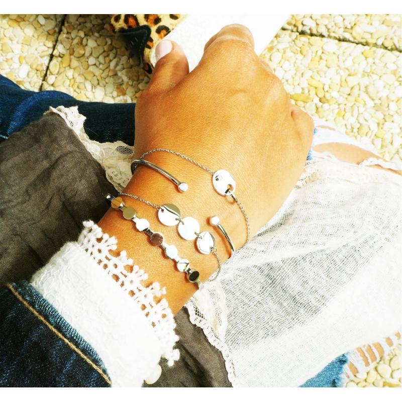 Bracelet jonc brillants en...