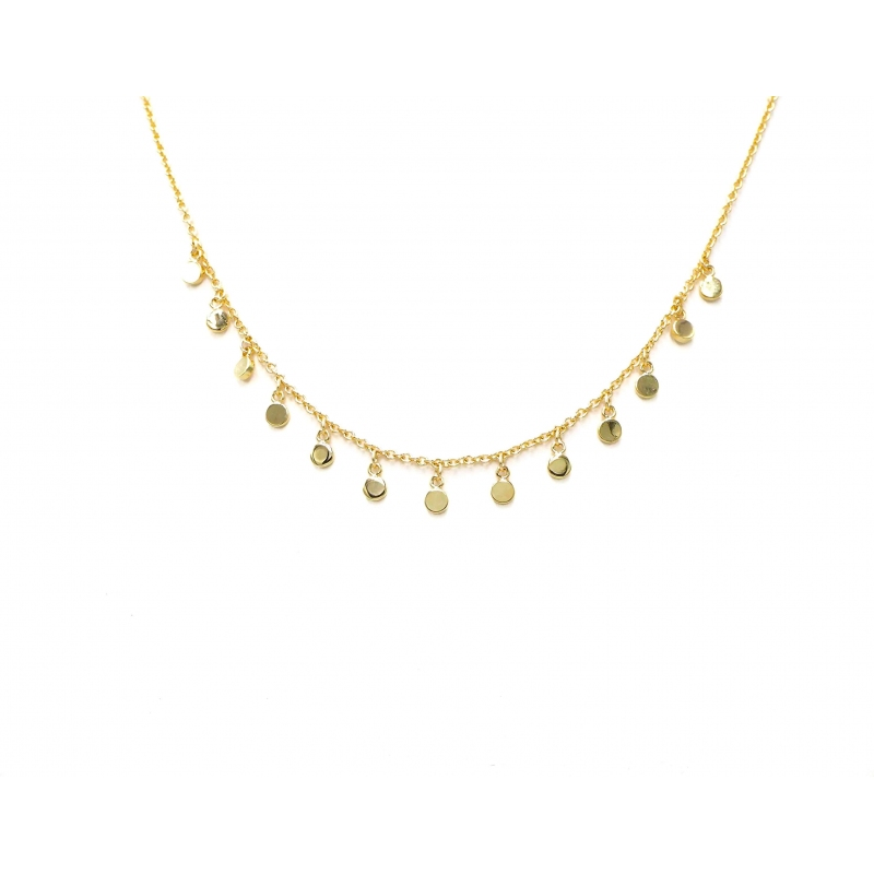 Multi dots gold necklace -...
