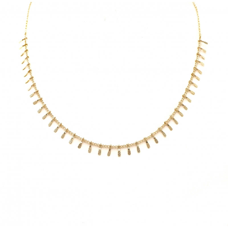 Mini ears gold necklace -...