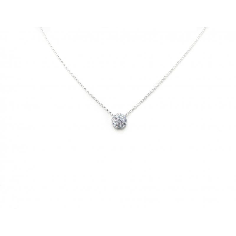 Shiny white silver necklace...