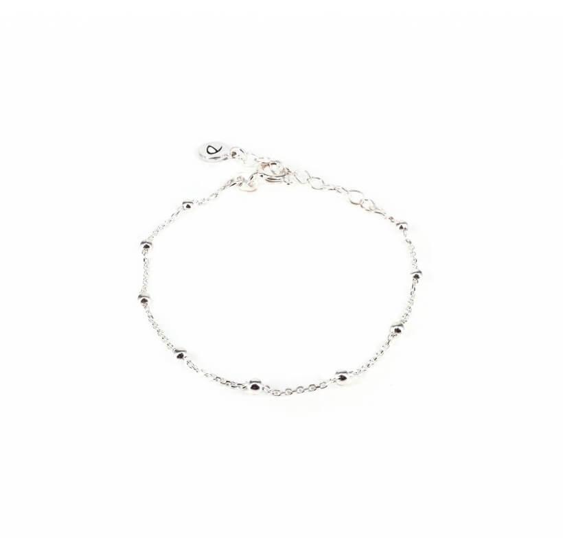 Bracelet chaine boules argent - Doriane bijoux