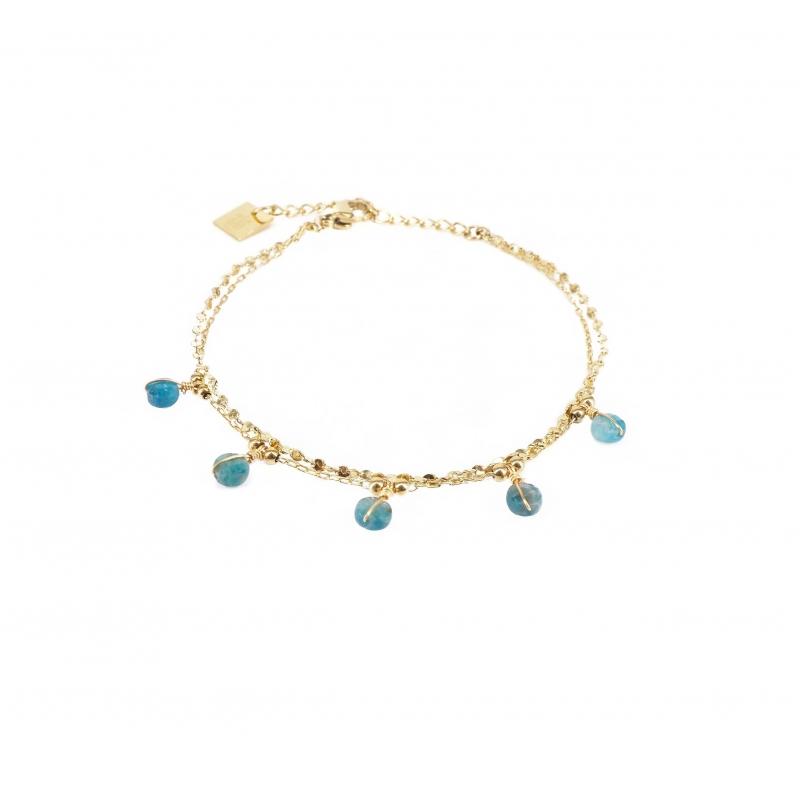 Bracelet perle apatite en...