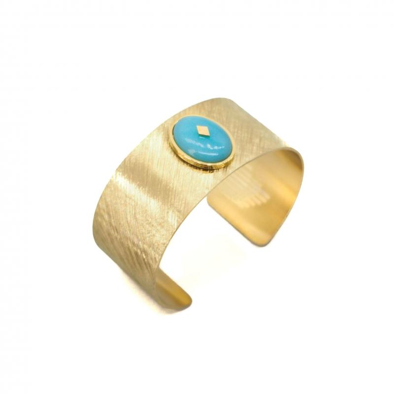 Gloria amazonite gold cuff...