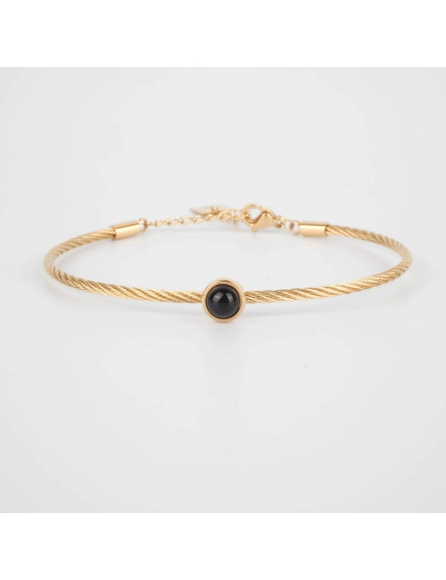 Bracelet jonc Calypso onyx...