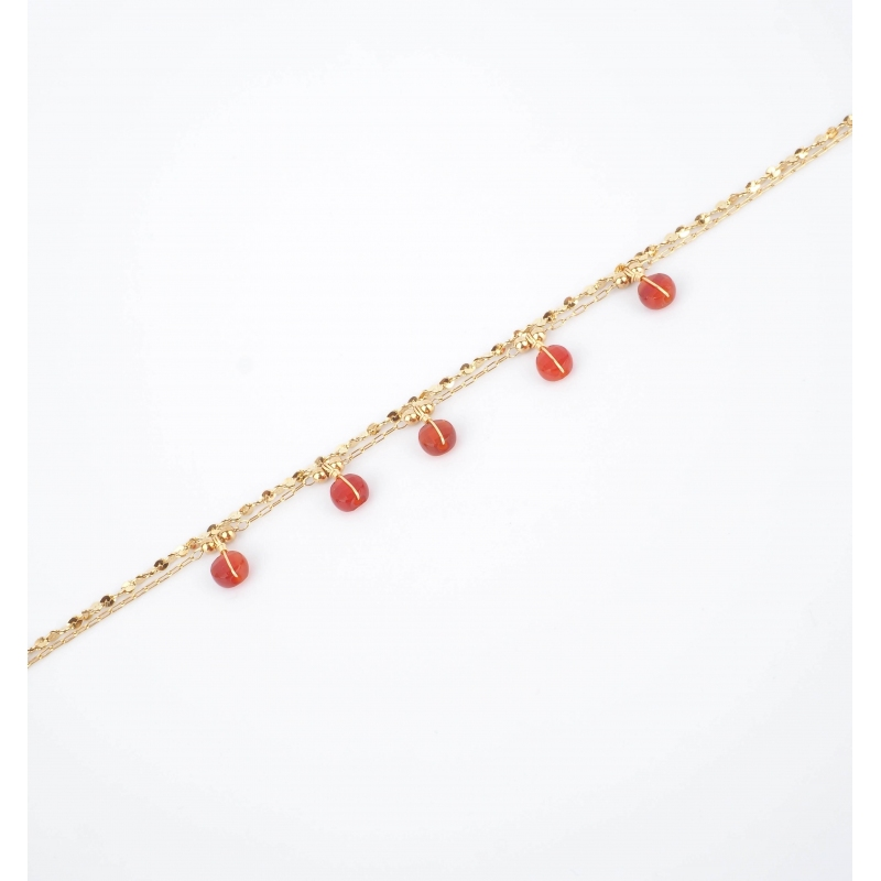 Bracelet perle cornaline en...