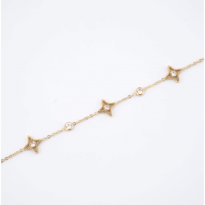 Bracelet Stella en acier or...