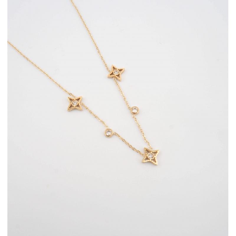 Stella gold necklace - Zag...