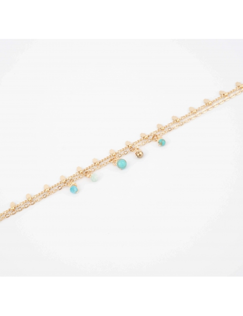 Bracelet Pearl amazonite en...