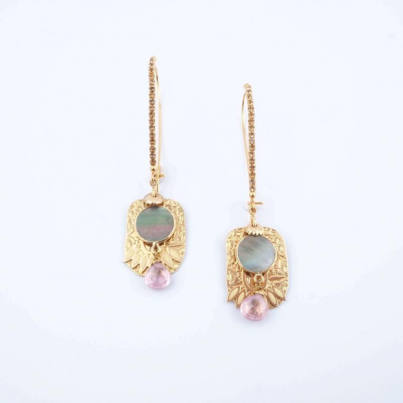 El Dorado gold earrings - Gas Bijoux