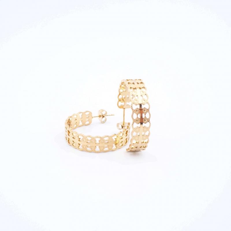 Lara gold hoop earrings -...