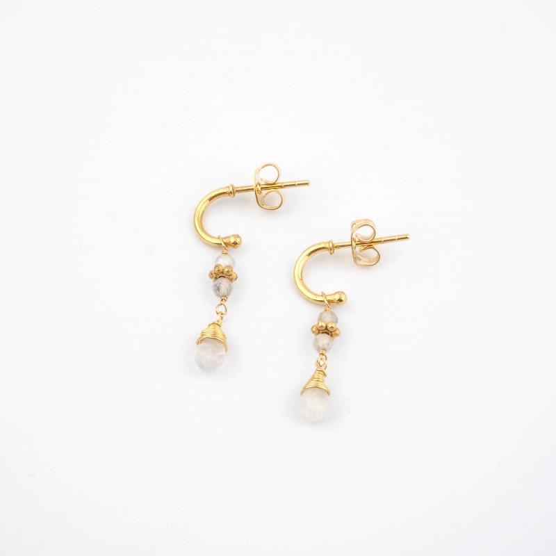 Tess gold earrings - Lucky...