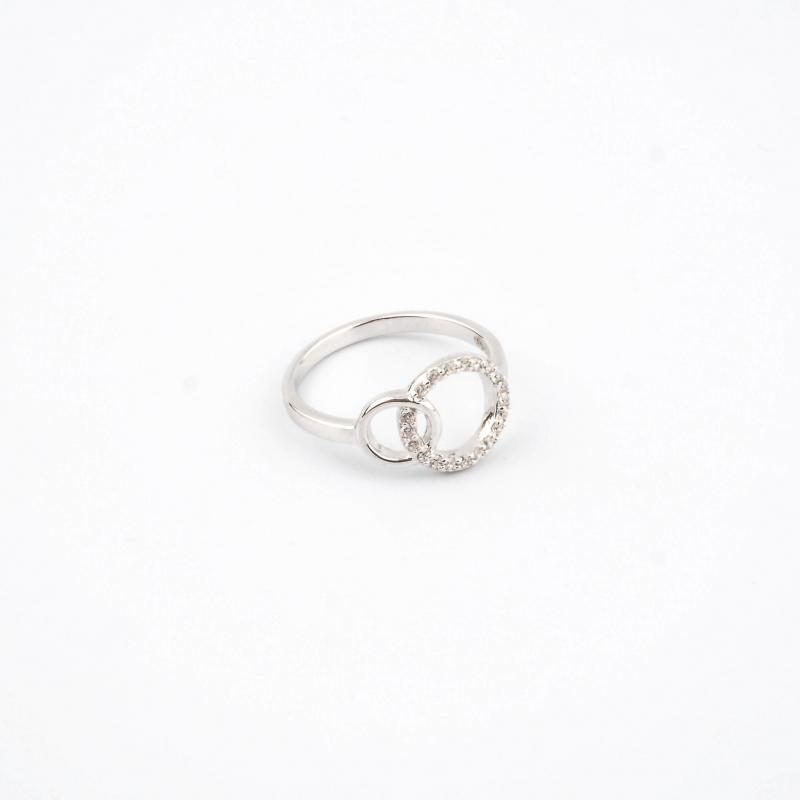 Bague anneaux entrelacés en...