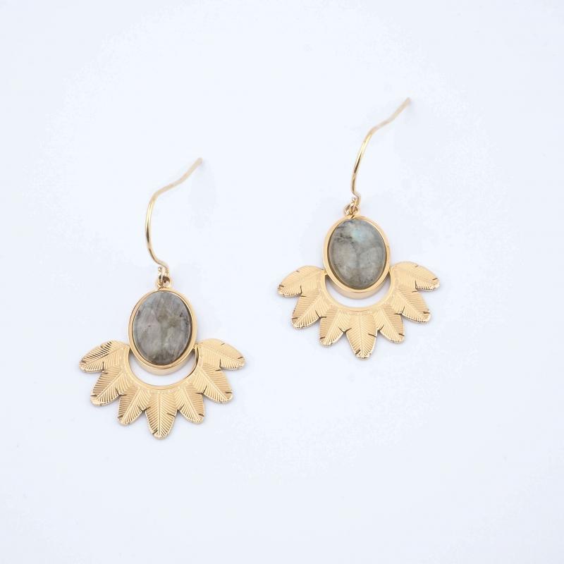 Palm earrings in...